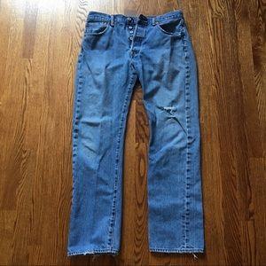 Distressed Levi's 501 Jeans
